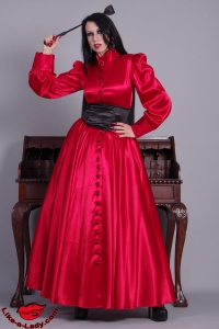 long buttoned governess dress