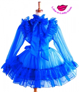 luxurious glass silk SISSY dress