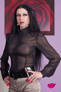 transparent governess blouse