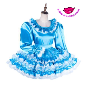 multi layer satin sissy dreamdress